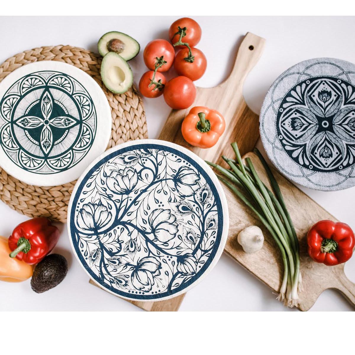 boho inspired food covers