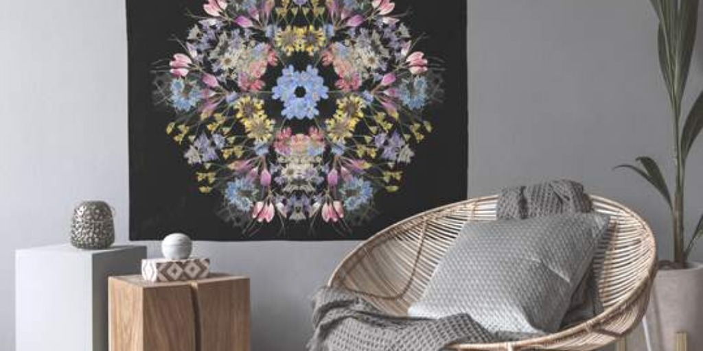 floral mandala tapestry